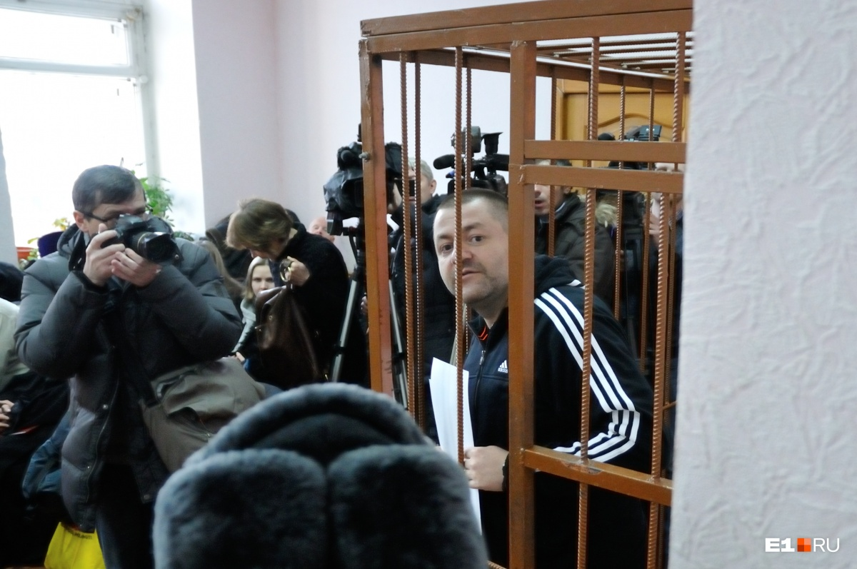 Евгений Маленкин на суде в 2015 году