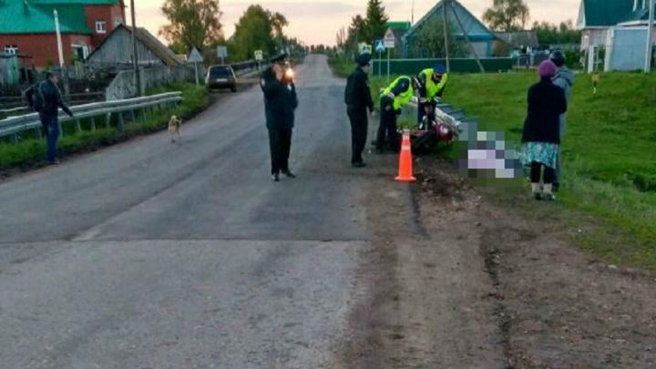 В Башкирии насмерть разбился мотоциклист