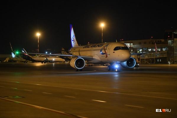 А320neo приземлился в Кольцово