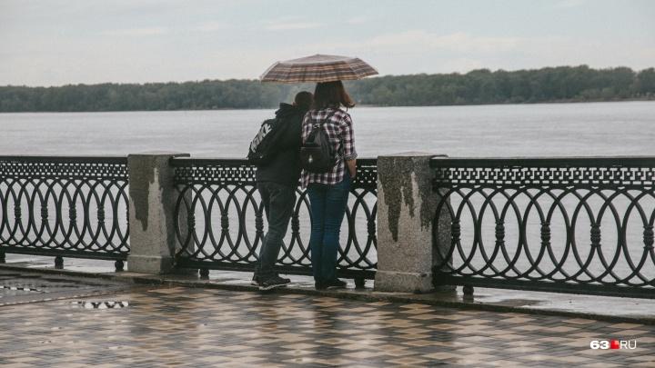 Еще хуже: в Самаре к дождю присоединятся град и сильный ветер