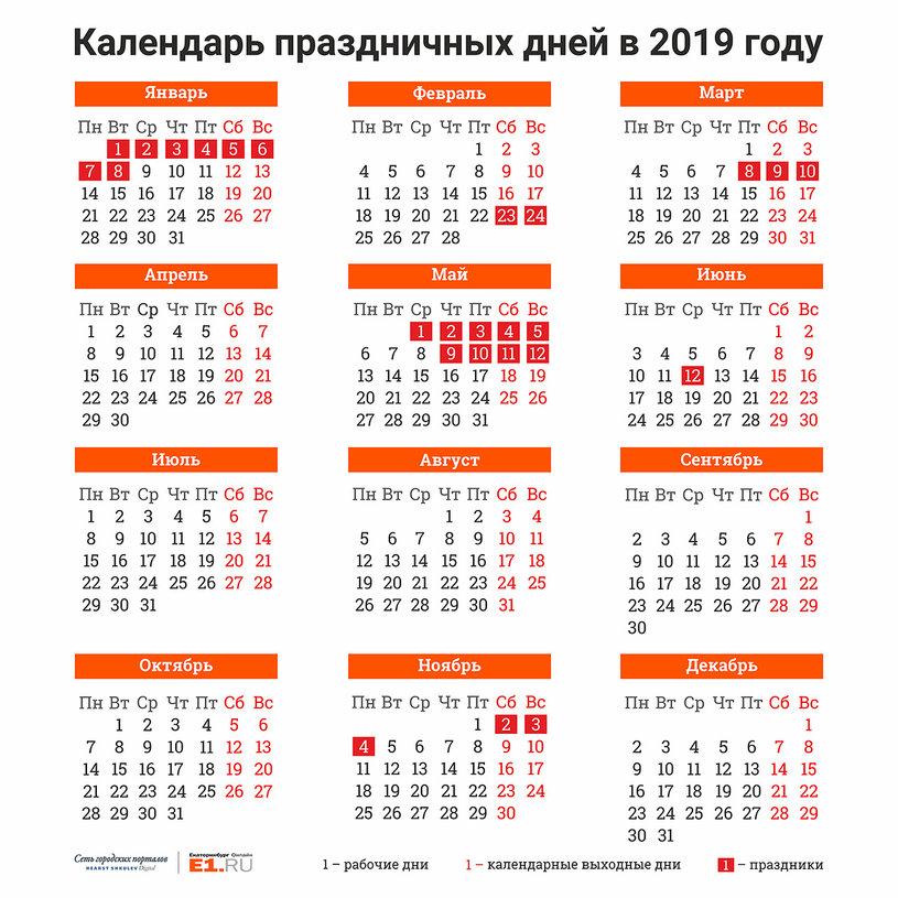 Планируем отдых: Минтруд составил календарь праздников на следующий год