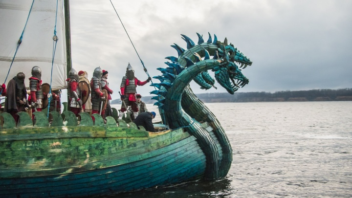 Самарцы проплывут через 7 странна древнерусской ладье