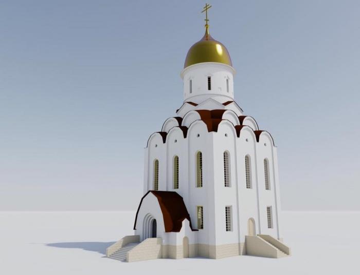 Эскиз нового храма