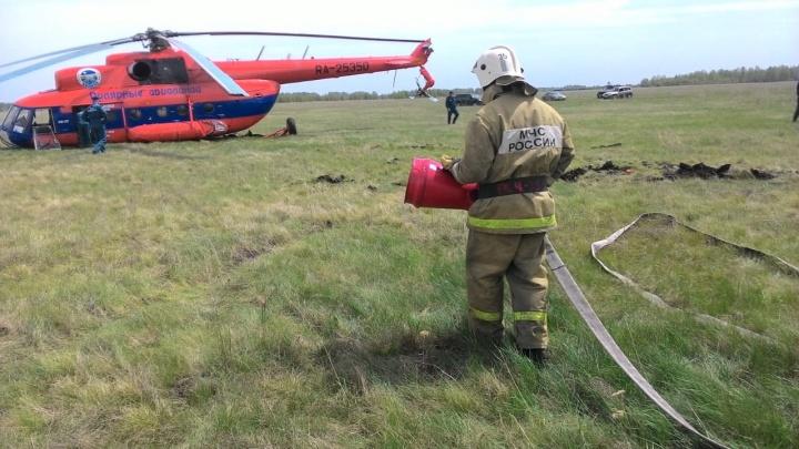 Под Омском вертолёт совершил аварийную посадку