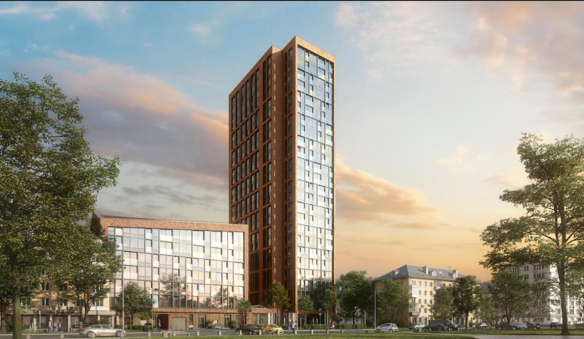 Кроме уникального внутреннего двора будет большой сквер перед домом, который станет новой рекреационной зоной района