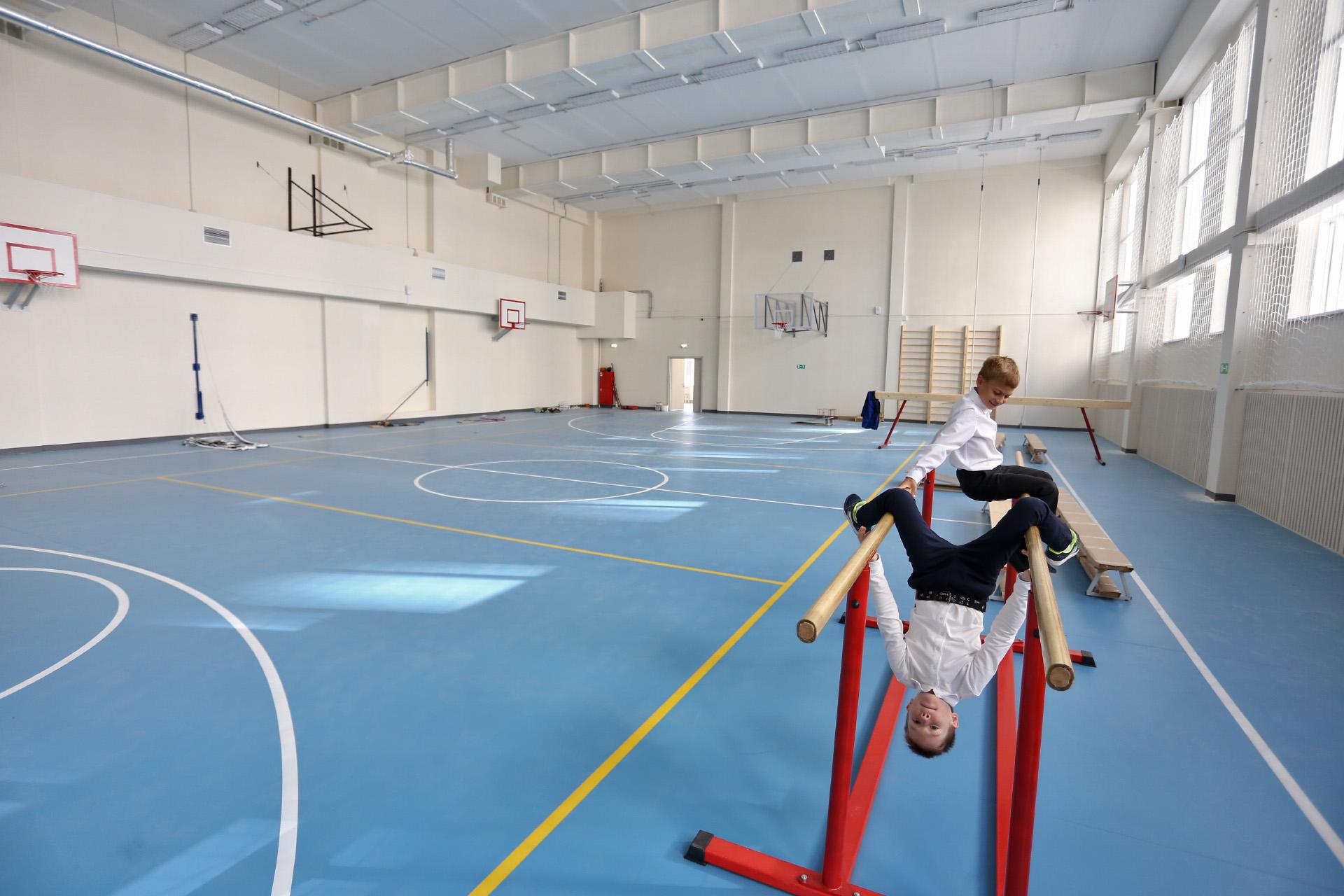 В спортзале можно проводить соревнования городского масштаба