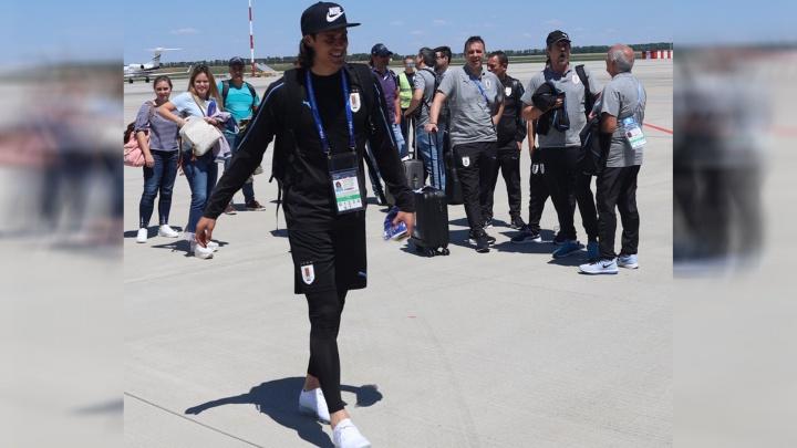 Сборная Уругвая приземлилась в аэропорту Платов