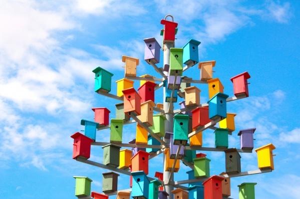 Авторы веселого скворечника ждут пернатых гостей в птичий отель