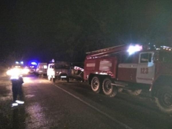 Пострадавших отвезли в больницу