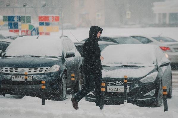 По сообщению синоптиков, снег в городе будет идти 28 и 29 декабря