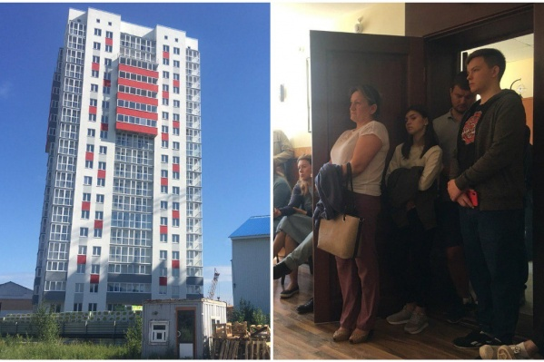 Дольщики ЖК «Славутич» пришли в офис застройщика, чтобы узнать, почему перенесли срок сдачи жилого дома