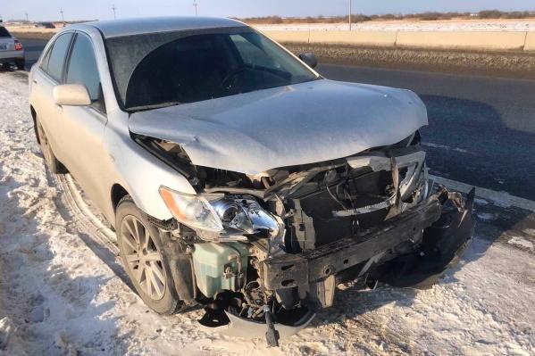 Иномарку преступница бросила после аварии на трассе