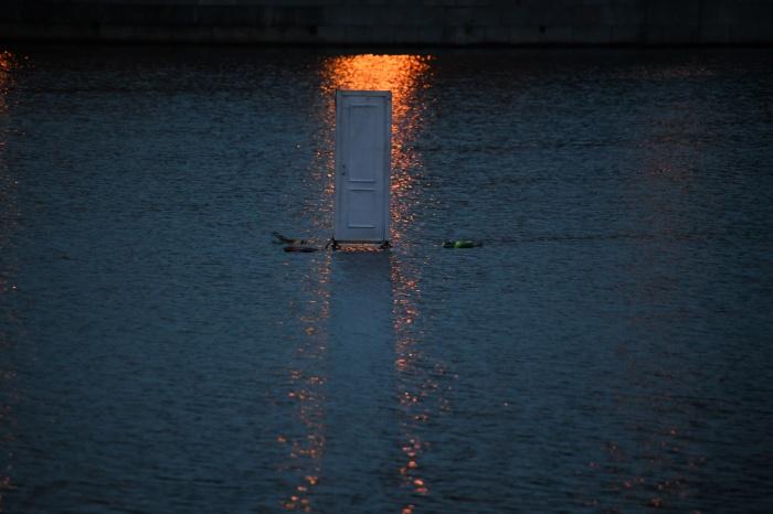 Дверь на Городском пруду вызвала позитивную реакцию в соцсетях