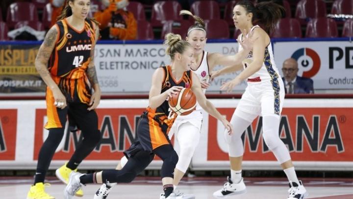 Баскетболистки УГМК выиграли третий матч в женской Евролиге, разбив итальянок