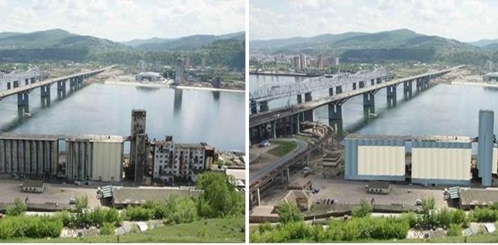 Объявлено о переделке брошенного завода у 4-го моста в гостиницу. Здание срочно красят к Универсиаде