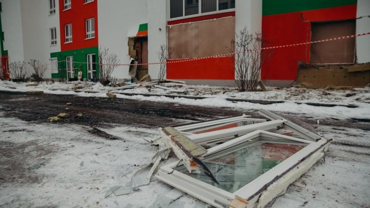 Взрыв газа на Шарова в Тюмени: от полного обрушения дом уберегли витражные окна