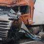 Появилось видео последствий смертельного ДТП с двумя фурами под Тольятти