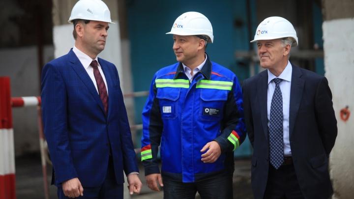 Строительство самой высокой дымовой трубы в Красноярске перешагнуло отметку в 100 метров