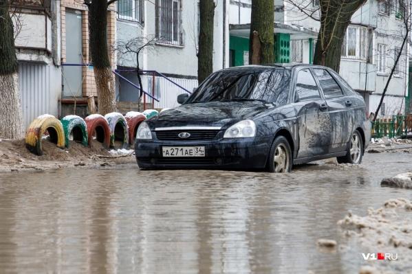 Яблоко раздора во дворе Дзержинского района появилось еще осенью