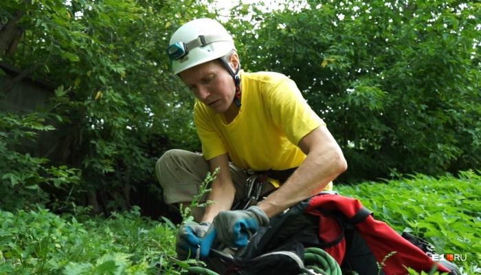 Евгений перед операцией по спасению кота Кузи. Подробнее об операции — на видео ниже