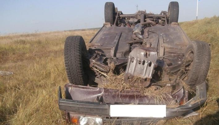 В Сафакулевском районе перевернулся автомобиль