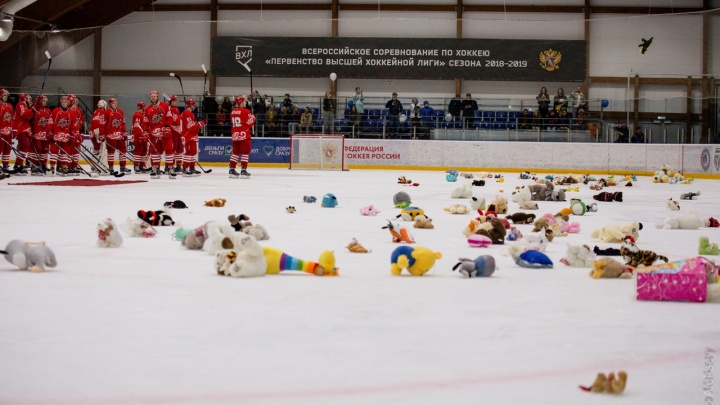 На благотворительном хоккейном матче между «Ростовом» и «Атаманом» собрали 300 тысяч рублей