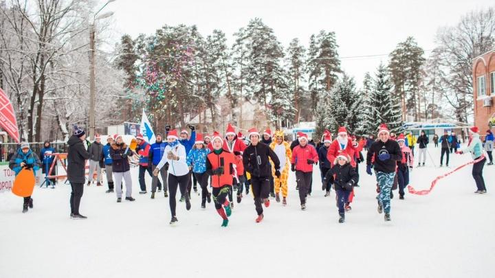 В Тольятти прошёл новогодний забег Дедов Морозов