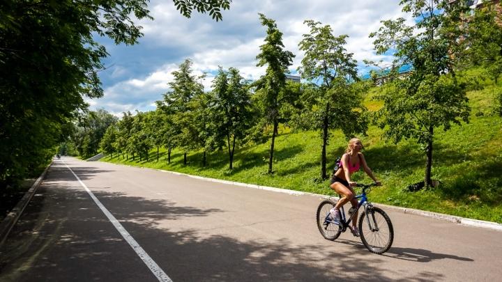 В Красноярск идет летняя жара с грозами