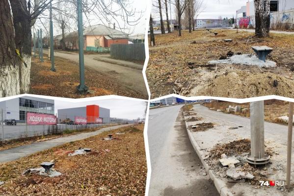 Новую порцию заборов подвезли на Бажова и на Новоградский проспект