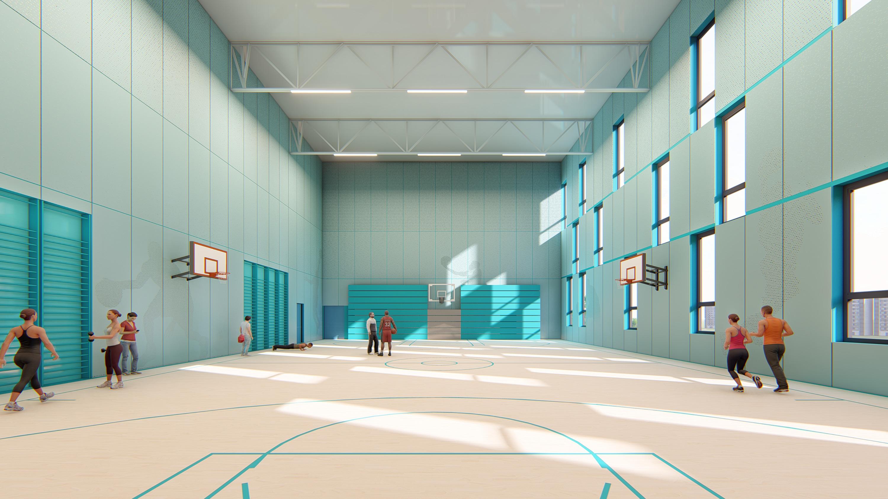 Интерьер спортивного зала