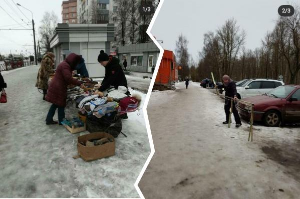 Пока мэр и пресс-служба мэрии докладывают о победах в борьбе со снегом, главы районов выкладывают «честные» снимки