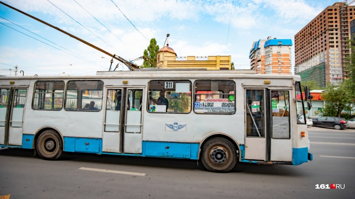 Два троллейбуса в Ростове на день поменяют схему движения