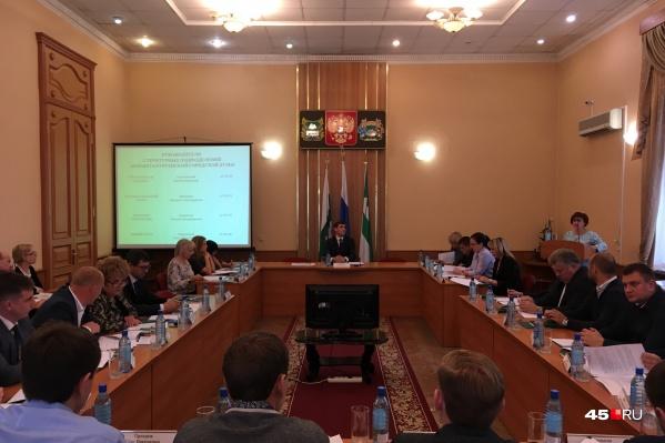 Сегодня на заседании парламентарии обсуждали организационные вопросы
