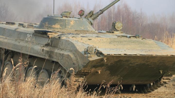 Впервые мотострелковая бригада испытала БМП-3 на донском полигоне