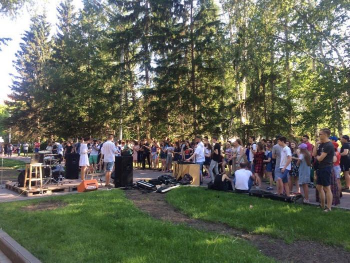 На пикнике собралось несколько десятков человек