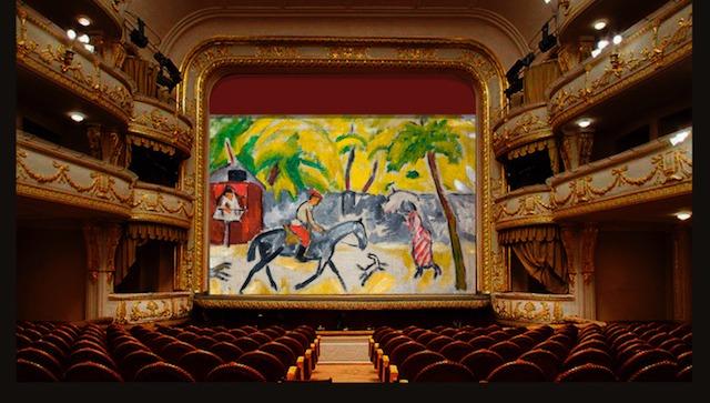 В Оперном театре заменят старый занавес на новый — с весёлой картиной