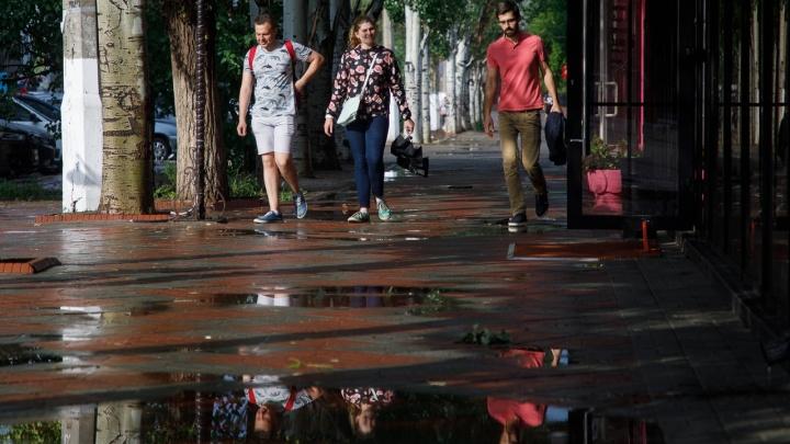 Жара перемежается дождями: Волгоградская область тонет в ливнях и едва дышит от испарений