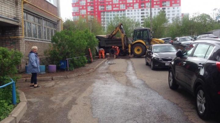 В Уфе на улице Комсомольской отремонтировали водопровод