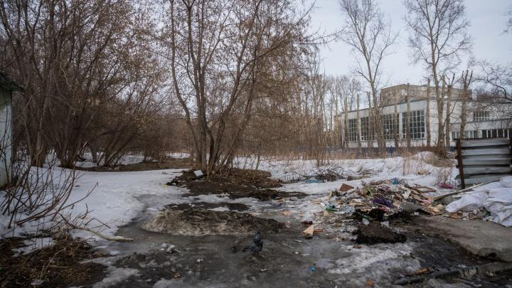 Вместо стройки будет сквер: рядом со школой в Кировском районе появится небольшой парк