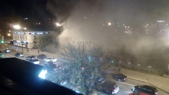 В Тюмени произошел пожар в зданииMalina bar на улице Первомайской