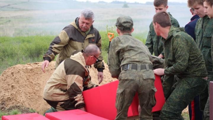 В Волгоградской области перезахоронили останки 60 защитников Сталинграда