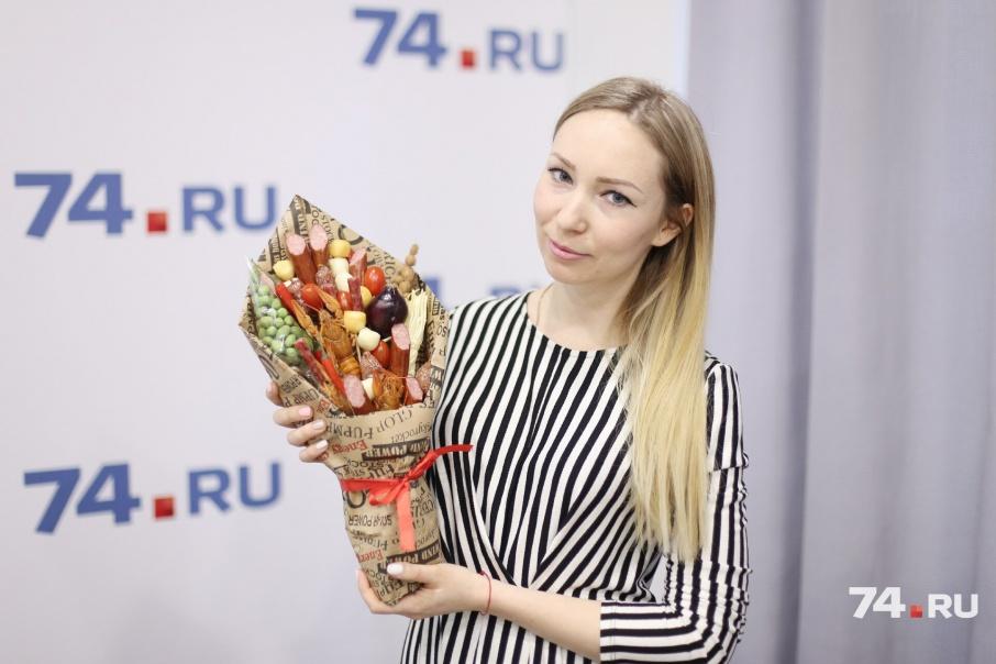 Ольга построила бизнес на букетах из продуктов