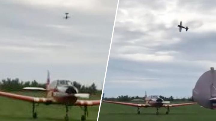 Появилось видео момента крушения самолета под Тольятти
