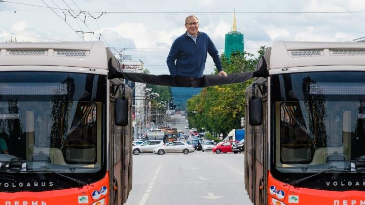 В Перми собираются повторить трюк Ван Дамма на крышах автобусов