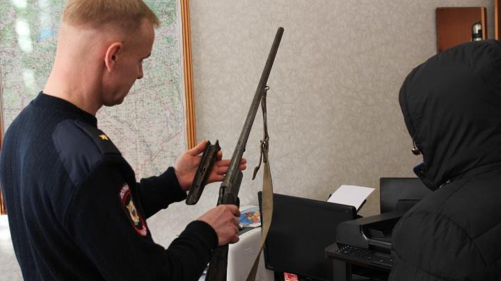 У омича перед приездом Путина опечатали сейф с оружием