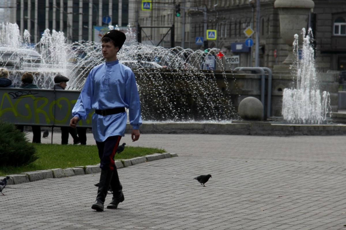 День Новосибирского казачества по традиции проходит в Первомайском сквере