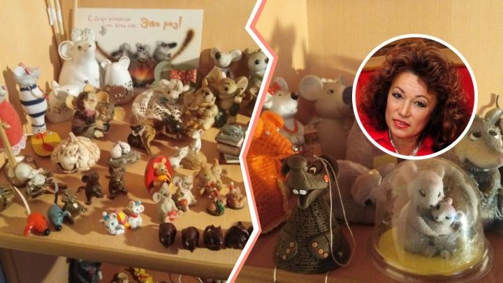 На Южном Урале педагог дома культуры собрала коллекцию из 500 мышей — символов 2020 года