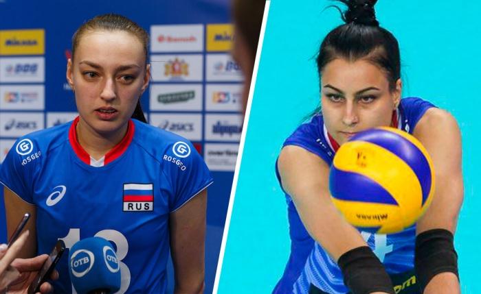 На чемпионате Европы Ксения Парубец (слева) и Дарья Пилипенко сыграют против своих коллег по «Уралочке», которые выступят за Белоруссию
