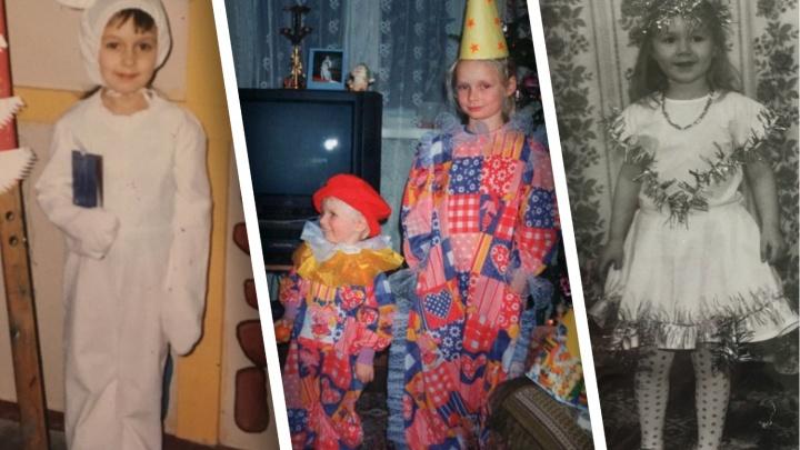 Мама — Дед Мороз и клоуны в лоскутных нарядах: рассматриваем старые новогодние фотографии читателей
