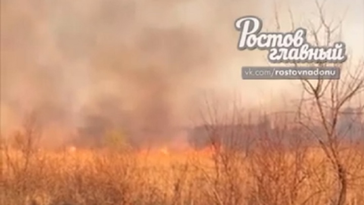 Неподалеку от Батайска вспыхнул ландшафтный пожар